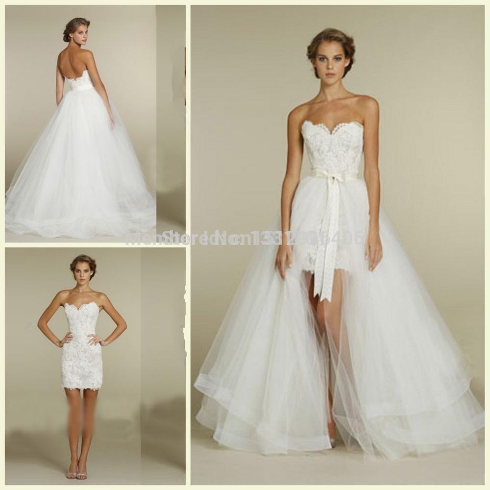 ... louer High Low détachable jupe chérie de Robes de mariée fiable
