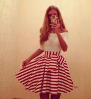 New fashion 2015 women sexy dresses long sleeve slash neck polka ball gown pleated casual dress 112