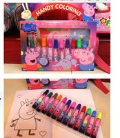 New Free Shipping 15pcs /PEPPA PIG/paintbrush big hero 6,drawing pen,best party gift