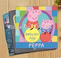 2pcs peppa pig/george printed hand towels,bamboo fiber,best gift for children kids girls boys pepa pigs family handkerchief love