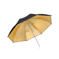 "Wholesale 10pcs/lot 33""  Photo Studio Reflective Black Golden Umbrella 83cm Flash Light Strobe Gold Reflector  Free Shipping"