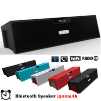 Bluetooth Speaker Portable Wireless Music Sound Box Big Power Built-in 1500mAh 10W Stereo AUX FM TF Alarm LCD Subwoofer with Mic