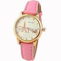 Fashion Paris Women Dress Watch relogio feminino Girls' gift leather Strap Ladies Quartz ladies wristwatch watch