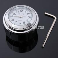 30PCS/LOT 7/8inch 1inch Universal Motorcycle Handlebar Mount Waterproof Clock