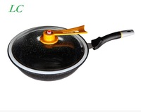 FREE SHIPPING 32CM WOK frying pan without oil vacuum pot boiling cease-fire health preservation of maifan stone for 20 minutes