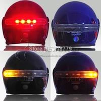 Wireless Motorcycle Bicycle Helmet Brake Light LED Brake Lamp Turn Signal Indicator Light Control Kits 12V Free Shipping