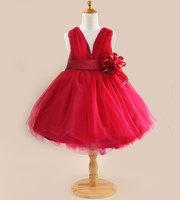 New 2015 European and American girls broken flower dress, 100% cotton fashion girls dresses. girls bud silk leisure dress LI050