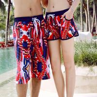 Sales! 2015 New Sport Shorts Red Printed Summer Beach Shorts Women Bermudas Feminino Short Pants Causal Holiday Couple Beachwear