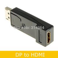 5pcs/lot Black DisplayPort Display Port Male DP to HDMI Female Adapter M/F For HDTV