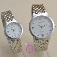 Stainless Steel Lovers Watches Men Women Dress Watch Couple Quartz wristwatch Pair Water Resistant silver luxury roman thin new