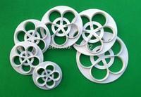 Free Shipping 6 Pcs/Set Beautiful Gum Paste Flowers Cake Decorating Cutter Fondant Mold Sugar Tools