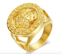 HOTSALE Medusa figure, bold hip hop ring, 316L stainless steel ring, FREE SHIPPING