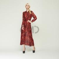 2015 New Fashion Women dress Loose Street Maxi Dress Plus Size women clothing Beach Summer Dress chiffon Red Free Shipping