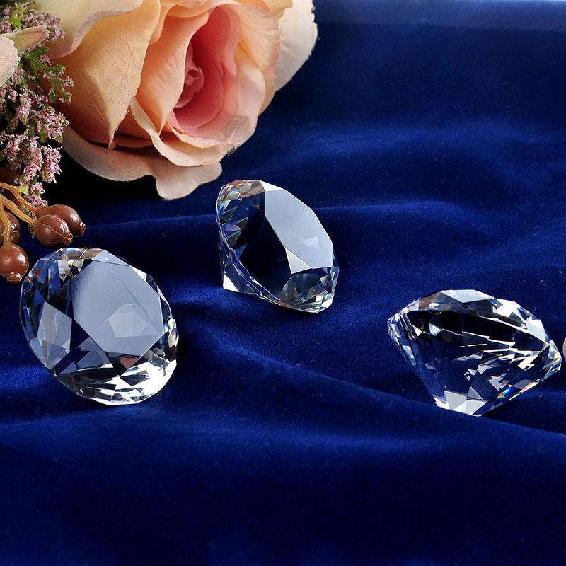 2015 Beautiful Souvenir Gift 40mm 3pcs Crystal Diamond Paperweight Crafts Home Decoration(China (Mainland))