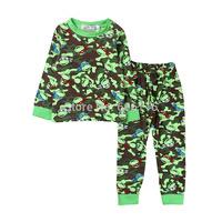 Retail 2015 new children turtles pajama set kids long sleeve cartoon clothing set toddler baby boys sleepwear / homewear