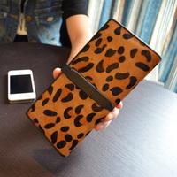 New 2015 Brand women wallets High quality Genuine Leather purse Women Handbags Wallets Clutch Bags Designer leopard print wallet