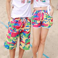 2015 New Fashion Summer Beach Shorts Women Camouflage Printed Causal Sport Holiday Swimwear Shorts