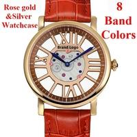 2015 New Women Dress Hollow Quartz Watches Leather Band Fashion Watches Women Wristwatches relogio masculino