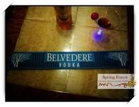 New BLVEDERE VODKA Bar Mats Soft PVC bar Runne/Drip Mat  for Pub bar,Home Decoration-  1pc/lot size 610x 90x10mm BAT-17