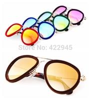 New 2105 Velvet Fashion Sunglass Vintage Sunglasses Women Brand Designer Sun Glasses Round  Oculos de sol Feminino 8143