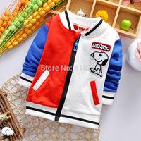 New 2015 Children Spring Clothes Girls Outerwear Boys' Zipper Coat Children Spring Clothing Kids Top Wear