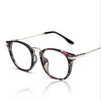 2015 New Eyeglasses Spectacles Frame Glasses Women/Men Retro Metal Legs Optical Myopia Frame Plain Glasses Eyewear Oculos De Sol