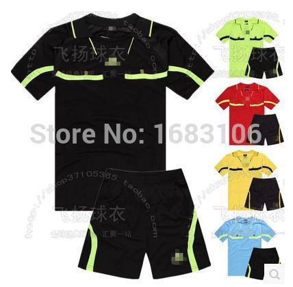 Wholesale!!! soccer uniforms training suit football referee suit football referee clothing set soccer jerseys free shipping(China (Mainland))