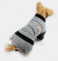 Grey Red New Pet Dog Casual Cotton-padded Jumpsuit Winter Clothes Warm Sports Coat Thick Tracksuit S M L XL