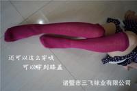 2015 spring women socks Knee high socks cotton solid color sweet lady long socks Princess stocking Leg Warmer