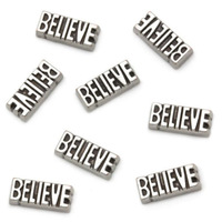 Silver Believe Floating Charms Floating Locket charm Fits Living lockets 20pcs/lot Free shipping