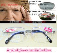 bifocal reading glasses high-end. Generous metal half frame men women readingglasses +1.00+1.50+2.00 +2.50+3.00+3.50+4.00
