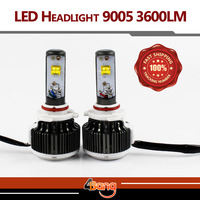 2x Car LED Headlight CREE 9005 Single Beam Xenon White 6000K Super Bright 30W/3600LM/60W 7200LM Conversion Kit Car Light Source