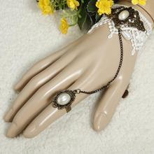 Wholesale 10PCs/Lot x Lace Bracelet Flower Rings Gothic Lolita Punk Party Belly Dance