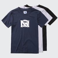 MS Brand Mens Boys Cotton t shirt Tee Short Sleeve Shirt Tee Tops Mulit Color Black White Blue
