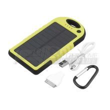 5000mAh Portable Waterproof Solar Charger Dual USB External Battery Power Bank YKS(China (Mainland))