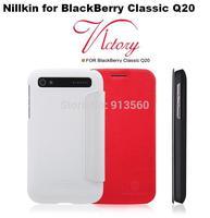 Free shipping 10pcs original Nillkin Flip leather case  V series for  BlackBerry Classic Q20 + retail box