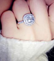 Korea Strobe carat created diamond ring