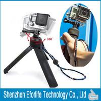 New PV Handheld Selfie Stick Tripod Grip Mount For GoPro Hero 4/3+/3/2/1 sj4000 sj5000 Sport Action Camera Go pro Accessories