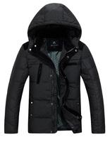 Men Winter Coats Male Parkas New Designer 2015 Men Winter Fashion Down Jackets Black / Khaki Plus Size L-3XL Man Thin Warm Coats