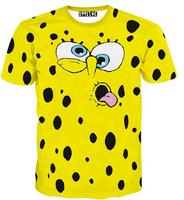 [Alice]free ship 2015 funny cartoon emoji 3d t shirt women/men hot style casual t shirts summer short sleeve t-shirt T1530