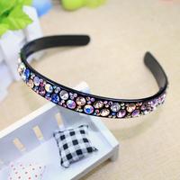 15mm width fashion hair accessories crystal hair jewelry women wedding rhinestone headbands bride hairbands