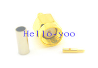 5pcs/lot SMA Connector SMA Plug Male Pin Crimp For RG174 RG316 LMR100 RF Coaxial Connector Goldplated Free Shipping