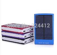 30000mAh Power Bank Solar PowerBank Backup Battery For iPhone Samsung iPad Dual USB Port Wholesale Mobile Charger 30PCS/LOT