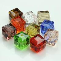 20pcs 10mm Colorful rainbow crystal beads necklace chain choker jewellery bracelet beading pearl glass karma beads Free Shipping
