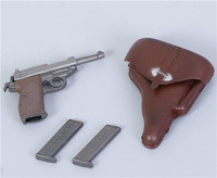 "1/6 Dragon Toys WWII German Officer Pistol Guns Model WaltherP-38 For 12""  Action Figure Toy Children Gift Collection"