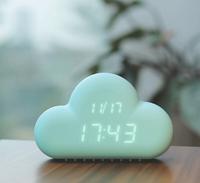 2015 New ABS Material LED Digital Indicate Snooze Function Alarm Clocks Touch Sensing Cloud Digital Alarm Clock Dropship Z730