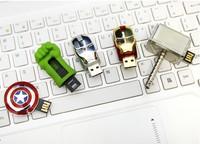 Brand new  memory Stick pendrive 4GB 8GB  Free shipping Avengers Hulk Iron Man 2.0 USB flash drive
