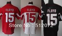Arizona #15 Michael Floyd Men's Elite Team Red/White/Alternate Black Football Jersey