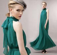 2015 New Arrival Women Chiffon Dress Bohemian Style Sleeveless Long Dresses KB555