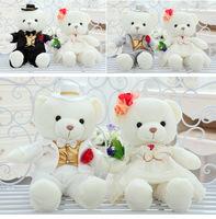 High Quality 1 Couple Bear Wedding Teddy Bear, Stuffed Animals & Plush Toys Bear For Girl Gift Wedding Gift